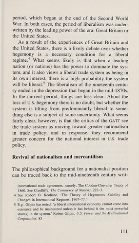 The evolution of international trade agreements by Gilbert R. Winham