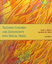 Cover of: Teaching children and adolescents with special needs