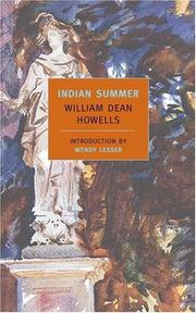 Cover of: Indian summer | William Dean Howells