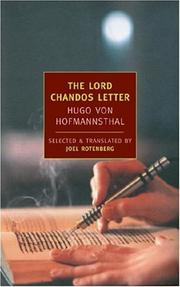 Cover of: The Lord Chandos Letter