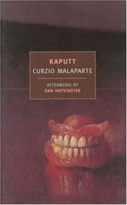 Cover of: Kaputt