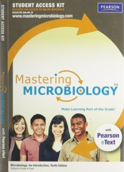 Cover of: MasteringMicrobiology with Pearson eText Student Access Code Card for Microbiology: An Introduction (11th Edition)