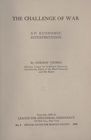 Cover of: The challenge of war | Thomas, Norman