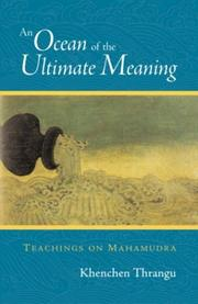 Cover of: An Ocean of the Ultimate Meaning | Thrangu Rinpoche