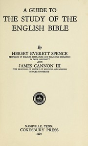 Cover of: A guide to the study of the English Bible | H. E. Spence