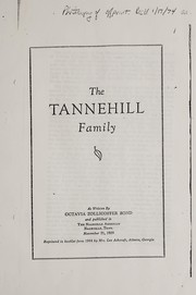 Cover of: The Tannehill family | Octavia Zollicoffer Bond