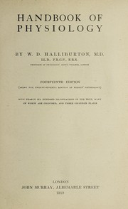 Cover of: Handbook of physiology | W. D. Halliburton