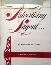 Cover of: Advertising Layout | Richard S. Chenault