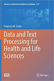 Cover of: Data and Text Processing for Health and Life Sciences