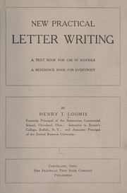Cover of: New Practical letter writing | Henry Thomas Loomis