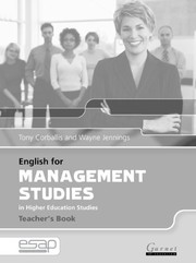 Cover of: English for Management in Higher Education Studies (English for Specific Academic Purposes) | Tony Corbalis
