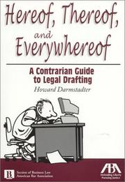 Cover of: Hereof, thereof, and everywhereof | Howard Darmstadter