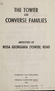 Cover of: The Tower and Converse families
