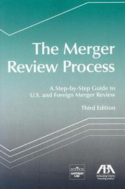 Cover of: The Merger Review Process