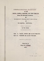 Cover of: Genealogical history of the Taylor, Farwell, Washburn and other families | Ella Foy O