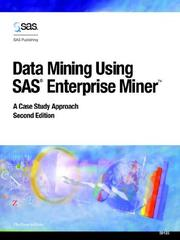 Cover of: Data mining using SAS Enterprise Miner |