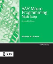 Cover of: SAS Macro Programming Made Easy | Michele M. Burlew
