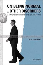 Cover of: On Being Normal and Other Disorders