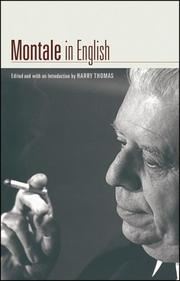 Cover of: Montale in English