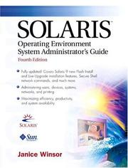 Cover of: Solaris operating environment system administrator's guide