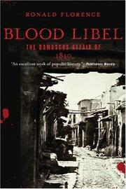 Blood Libel by Ronald Florence