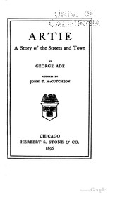 Cover of: Artie: A Story of the Streets and Town