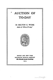 Cover of: Auction of to-day | Milton C. Work