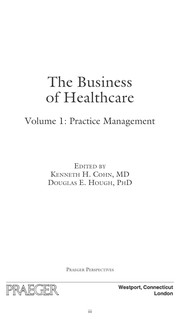 Cover of: The business of healthcare |