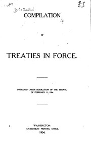 Cover of: Compilation of treaties in force |