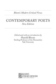 Cover of: Contemporary poets