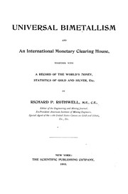 Cover of: Universal bimetallism and an international monetary clearing house | Richard P. Rothwell