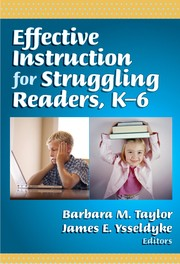 Cover of: Effective instruction for struggling readers, K-6 |