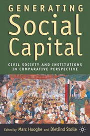 Cover of: Generating Social Capital |
