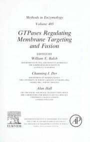 Cover of: GTPases regulating membrane targeting and fusion |
