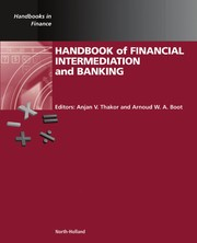 Cover of: Handbook of financial intermediation and banking |