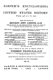 Cover of: Harper's encyclopædia of United States history from 458 A.D. to 1902