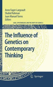 Cover of: The Influence of genetics on contemporary thinking |