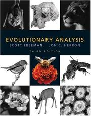 Cover of: Evolutionary Analysis, Third Edition | Scott Freeman, Jon Herron