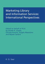 Cover of: Marketing library and information services |