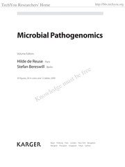 Cover of: Microbial pathogenomics |