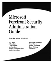 Cover of: Microsoft forefront security administration guide |