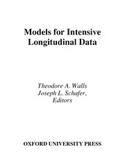 Cover of: Models for intensive longitudinal data |