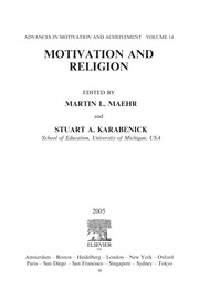 Cover of: Motivation and religion |