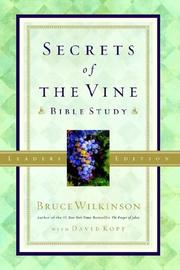 Cover of: Secrets of the Vine Leader's Guide: Breaking Through to Abundance