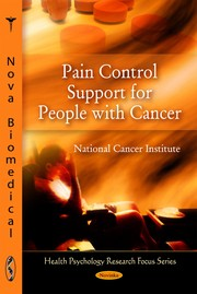Cover of: Pain control support for people with cancer |