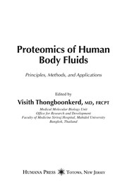 Cover of: Proteomics of human body fluids |