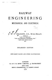Cover of: Railway engineering, mechanical and electrical | J. W. C. Haldane