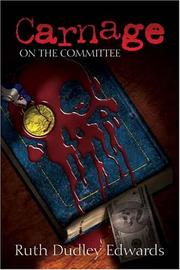 Cover of: Carnage On The Committee (Robert Amiss Mysteries)