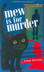Cover of: Mew is for Murder