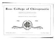 Cover of: Ross College of Chiropractic. |